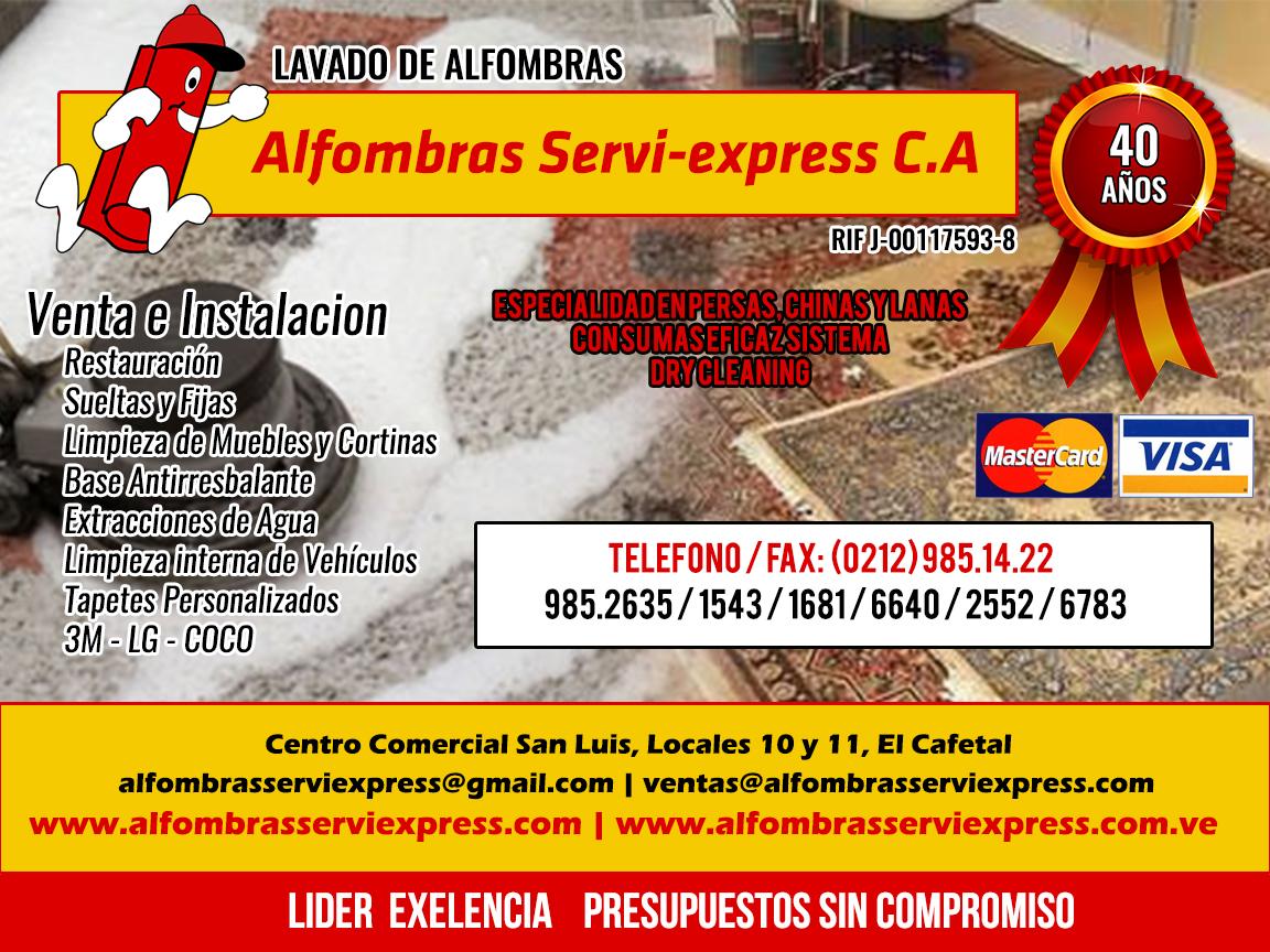 Alfombras Servi-express C.A en Paginas Amarillas tu guia Comercial