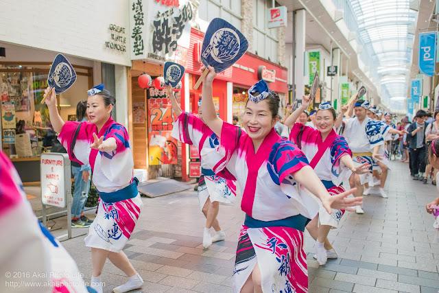 高円寺パル商店街、天翔連の流し踊りの写真 5