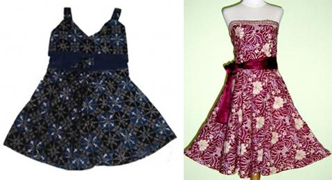 desain baju batik anak perempuan