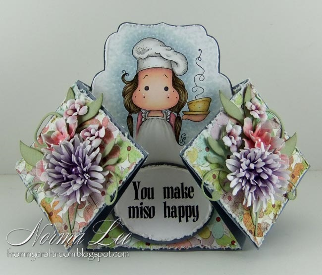 From My Craft Room Double Diamond Fold Card Template
