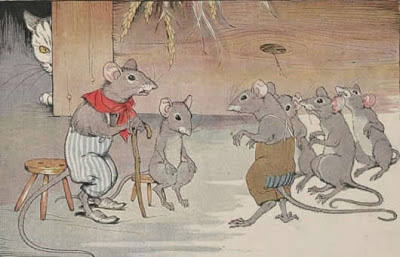 los ratones y el cascabel rima larga
