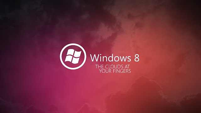 Roze Windows 8 achtergrond met witte letters
