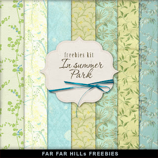 Freebies Background Kit - In Summer Park