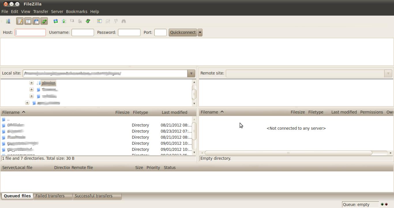 Cara Upload dengan ftp client (filezilla)