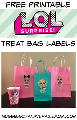 LOL surprise printable treat bags