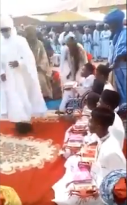 Emir Sanusi Stands Up To Give An Handicap Student His Certficate