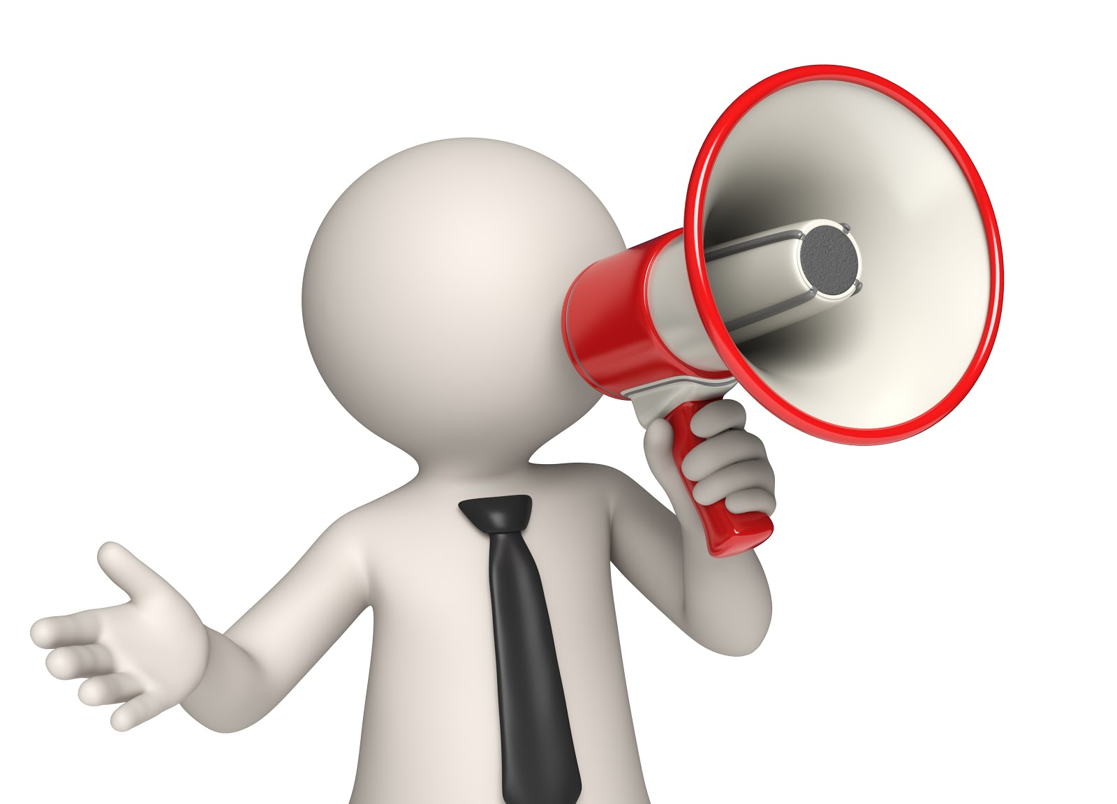 clipart man with megaphone - photo #16