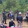 Danramil Dampingi  Kepala Workshop Tinjau Lokasi TMMD Ke 104 Di Desa Sungai Ning