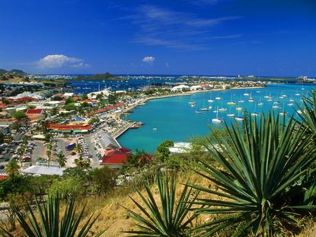 Saint Martin Paysage, vue sur Bay