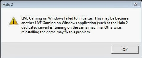 Live Gaming On Windows Failed To Initialize