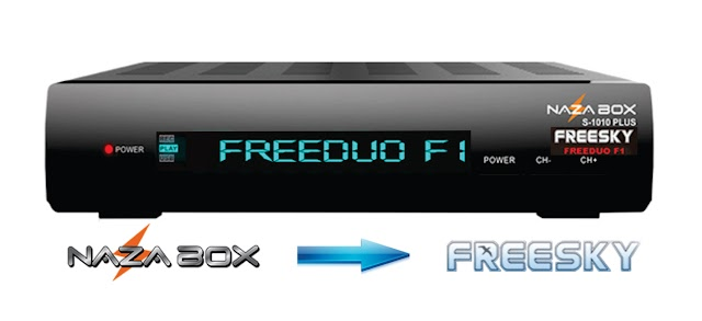 NAZABOX S1010 PLUS EM FREESKY F1 NOVA ATUALIZAÇÃO - V2.57 - 26/10/2019