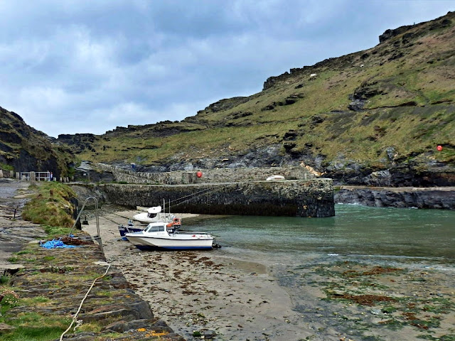Harbour wall at Boscastle, Cornwall