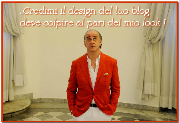 template modello blog design
