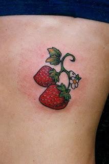 Tatuajes frutillas