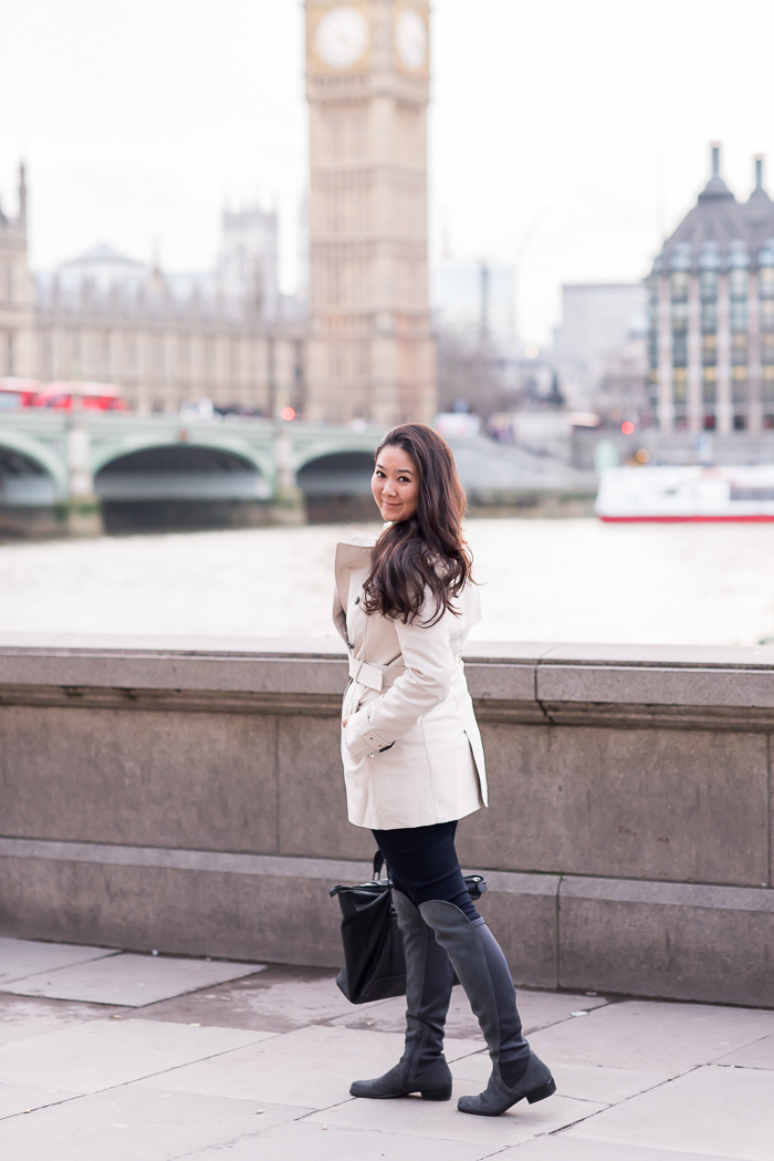 London trench coat outfit