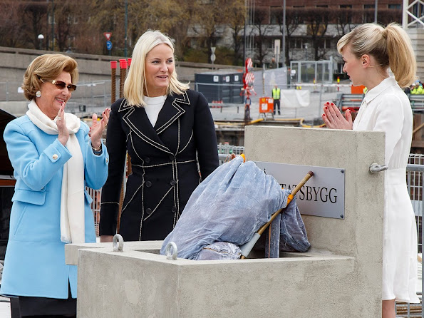 Queen Sonja and Crown Princess Mette-Marit of Norway laid the foundation stone of the new National Museum in Oslo