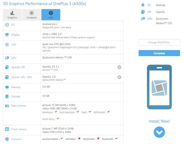 Inilah spesifikasi lengkap OnePlus 3, dibekali chip Snapdragon 820 dan RAM 6GB