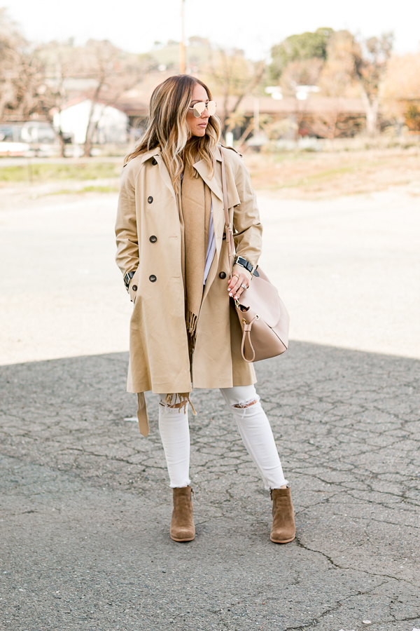 white ripped jeans winter style