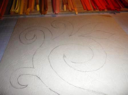 A rajz körvonalaira állított szalagok keretezik a mintát 3dbaefd7ac