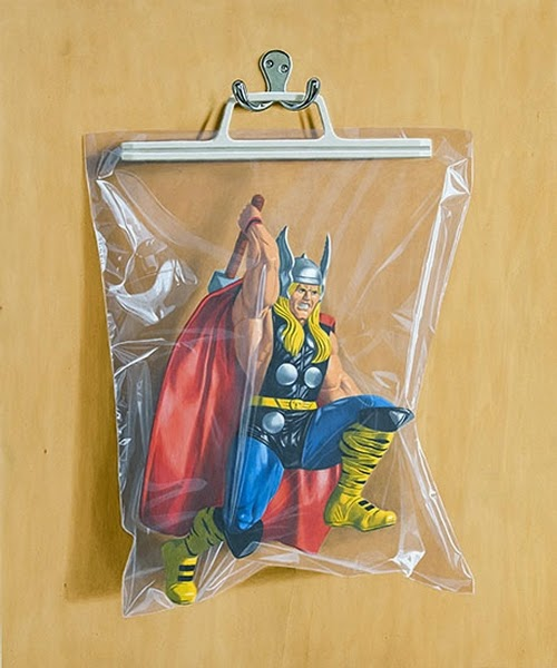 14-Dr-Donald-Blake-Thor-Simon-Monk-Bagged-Superheroes-in-Painting-www-designstack-co