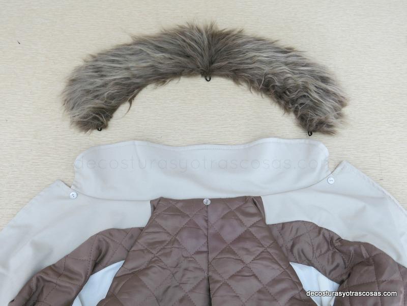 Cuello pelo para abrigo