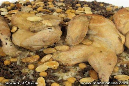 دجاج بالأرز واللحم المفروم - منال العالم