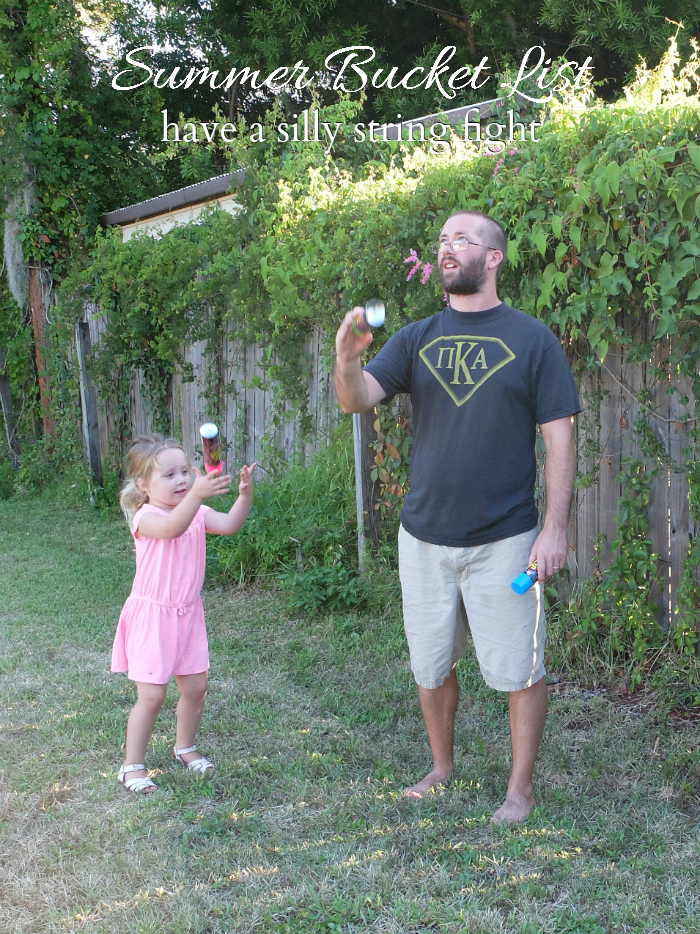 Sweet Turtle Soup - Summer Bucket List | have a silly string fight