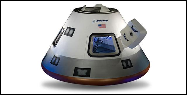 The CST-100 Starliner crew module. Image Credit: Boeing