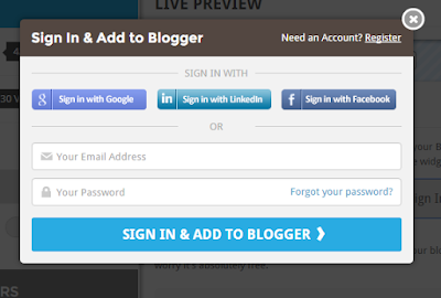Sign up rating widget blogger