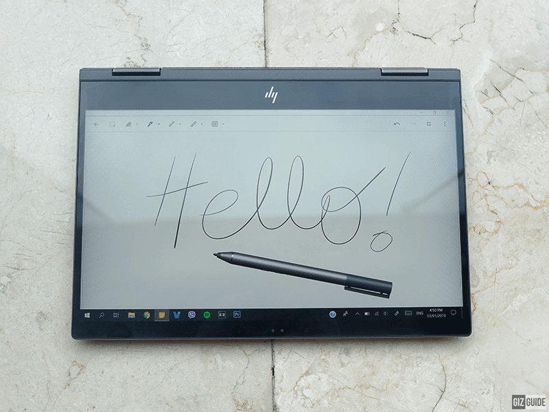 Tablet mode with the stylus