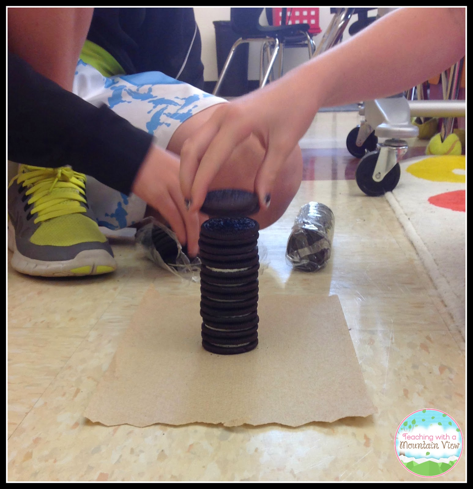 Teaching With A Mountain View Oreo Stacking Contest For