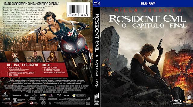 Capa Bluray Resident Evil O Capítulo Final [Exclusiva]