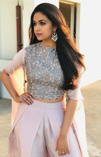 Keerthy Suresh in White Dress with Cute and Lovely Expressions 1