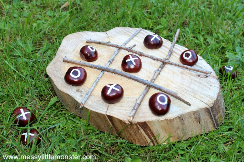 Nature Crafts for Kids - DIY Tic Tac Toe Game