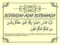 Cerita imajiner islam berjudul Beribadah Agar Berbahagia