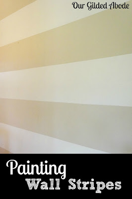 Painting Wall Stripes, shared by Our Gilded Abode at the Clever Chicks Blog Hop
