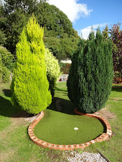 Minigolf at Puckpool Park in Ryde on the Isle of Wight