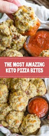 The Most Amazing Keto Pizza Bites #keto #pizza