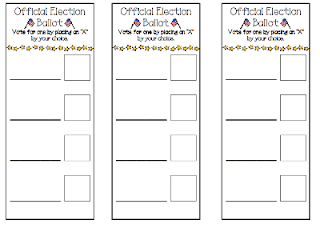 3 teacher chicks kindergarten election for Election ballots template