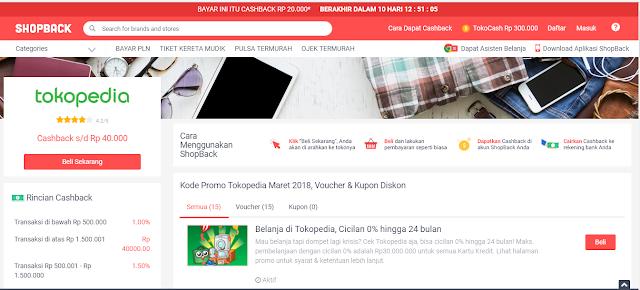 INGIN DAPAT CASH BACK UANG TUNAI ? Belanja ONLINE Saja Di Tokopedia  Melalui SHOPBACK