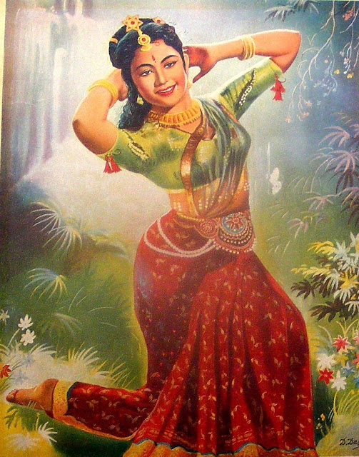 Vintage Paintings of Beautiful Woman's 12