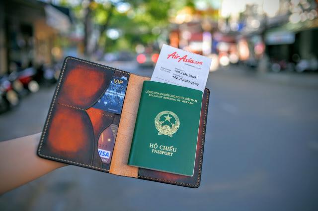 Bao da thật đựng Passport đơn giản