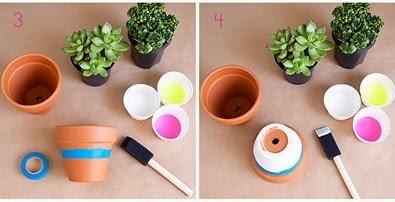 Cara Membuat Kerajinan Tangan Pot Warna-warni 2