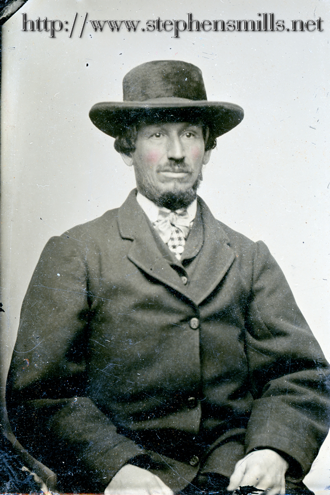 photo of Chester Dunbar Fickett  Born 3/31/1826 in Woodstock, Maine  Died 3/13/1905 in Woodstock, Maine  son of Simon Fickett 1799-1856  and Ruth Tyler Chase 1803-1888