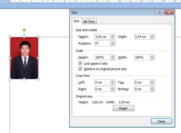 Cara membuat ukuran foto 3x4 di microsoft word 2007 Atau ...