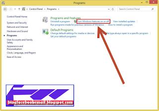 cara mengaktifkan Net framework windows 8