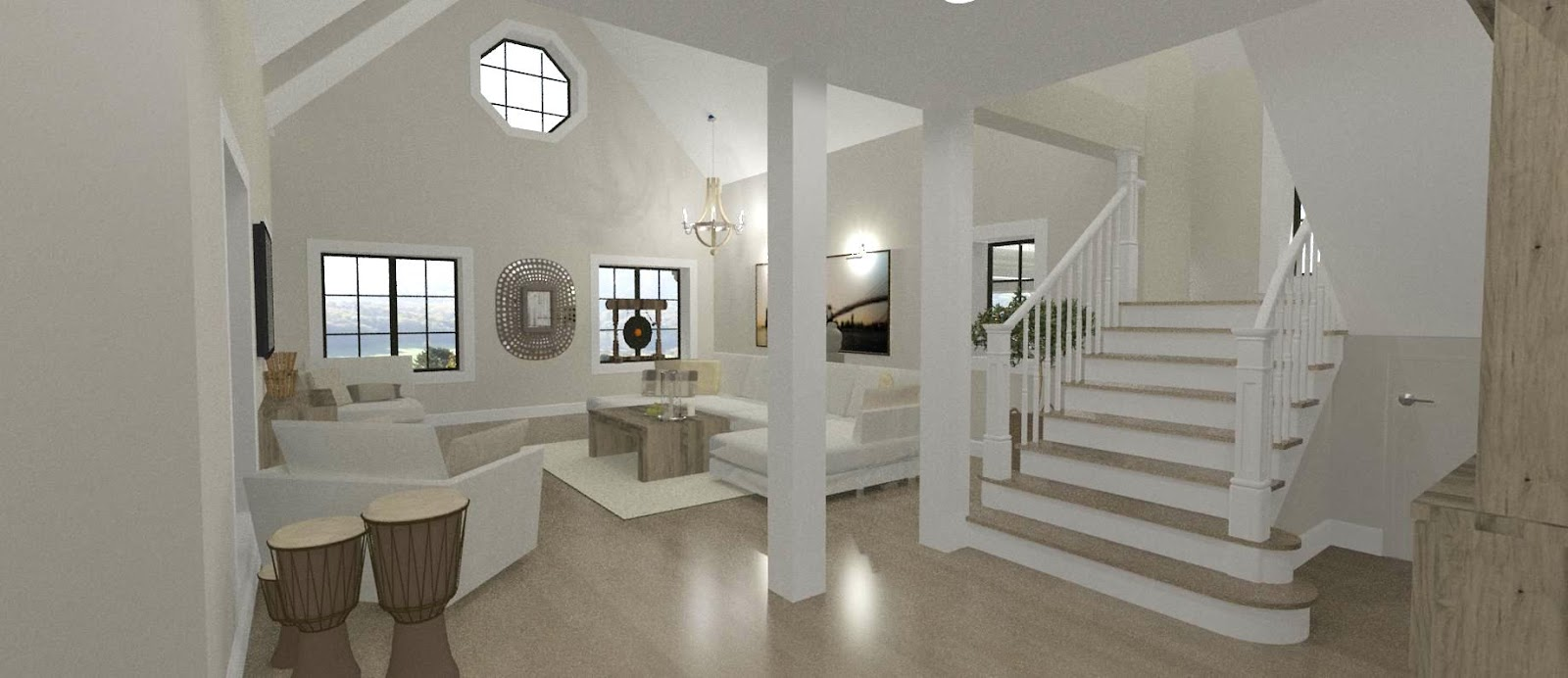 3d visualisierung beachhouse living. Black Bedroom Furniture Sets. Home Design Ideas