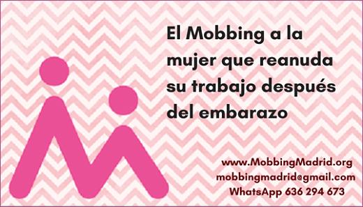 El Mobbing a la mujer que reanuda su trabajo después del embarazo