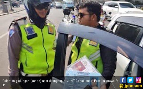 Polantas Palsu di Jalan Layang Casablanca Ternyata Mahasiswa