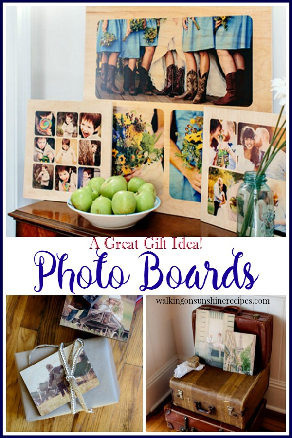 Photo Boards: Great for Decorating and Gifts from Walking on Sunshine Recipes